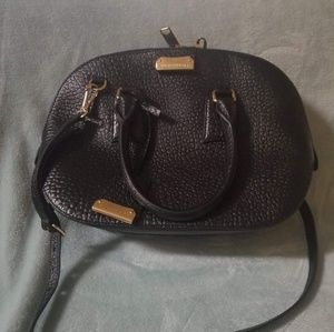 Authentic Burberry pebble grain satchel